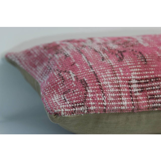 Pink Handmade Overdyed Rug Pillow Cover - Pair - Image 4 of 4