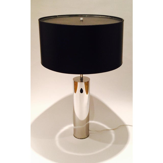 Chrome Table Lamp by Nessen - Image 3 of 6