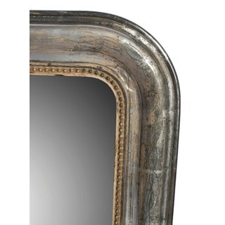 Small Silver Frame Mirror With Gold Bead Trim Preview