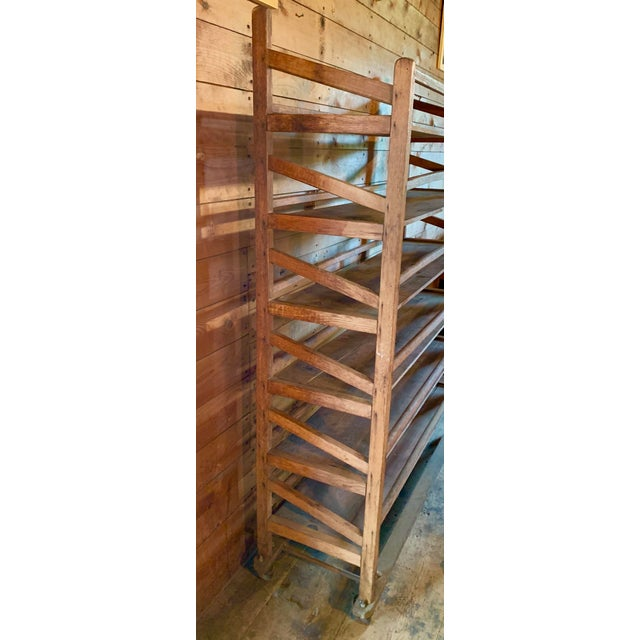 Vintage Wood Bakery Bread Rack For Sale - Image 9 of 11