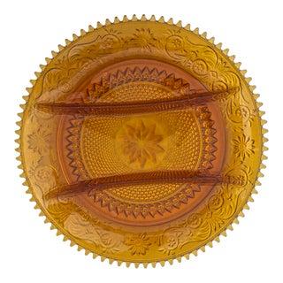 Vintage Amber Indiana Glass Platter
