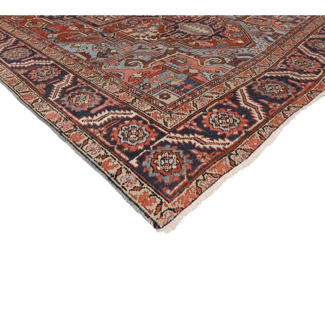 """Antique Persian Heriz Rug - 8' x 10'1"""" - Image 2 of 7"""
