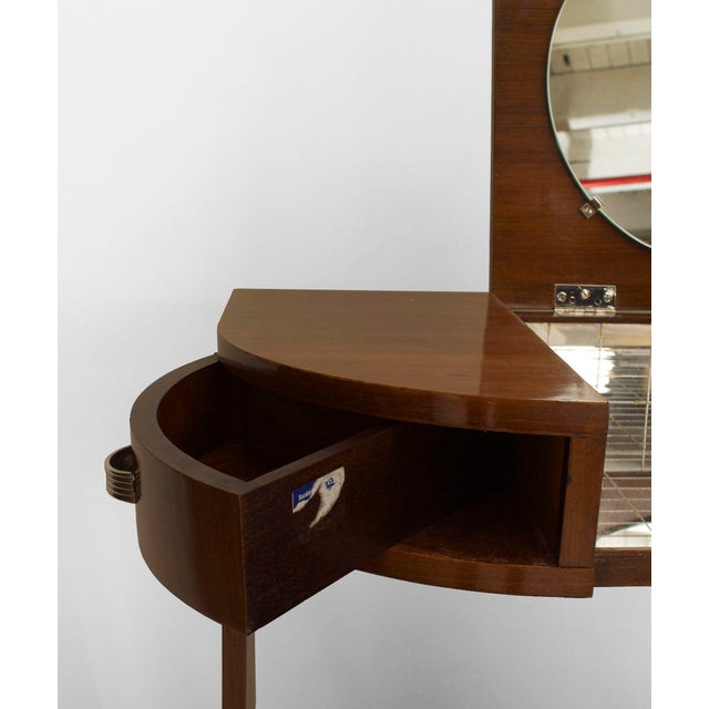 French Art Deco Mahogany Dressing For Sale - Image 4 of 7