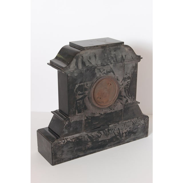 19th Century Victorian French Marble Mantel Clock For Sale - Image 4 of 7