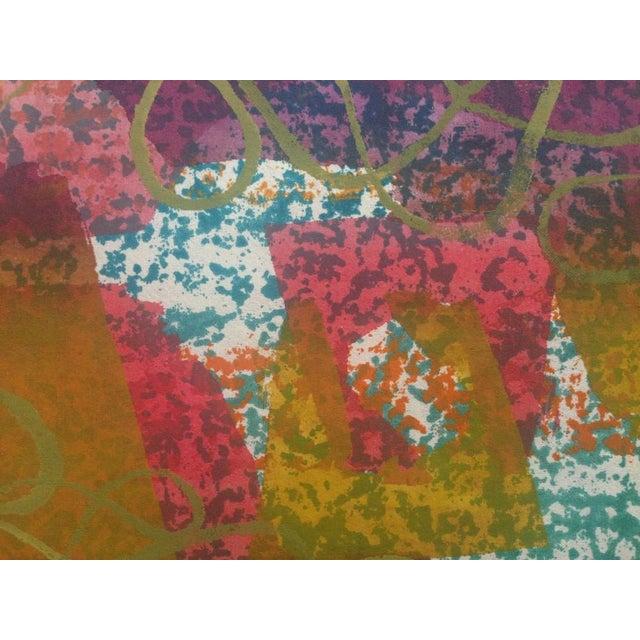 Mid-Century Abstract Silkscreen Estelle Siegelaub For Sale - Image 4 of 7