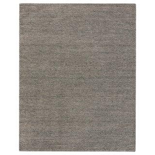 Sanz Flatweave Wool Silver Rug - 10'x14' For Sale
