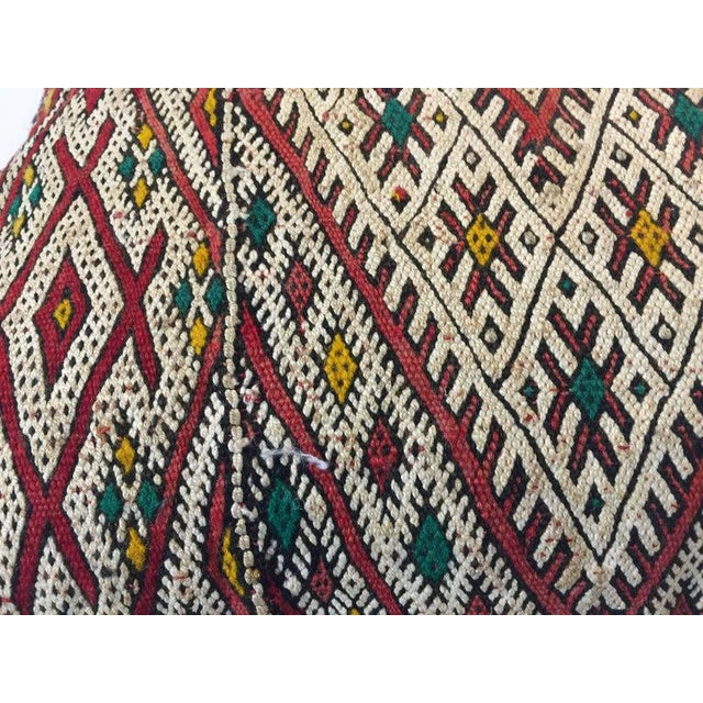 Handwoven Moroccan Tribal Berber Throw Pillow For Sale - Image 9 of 10
