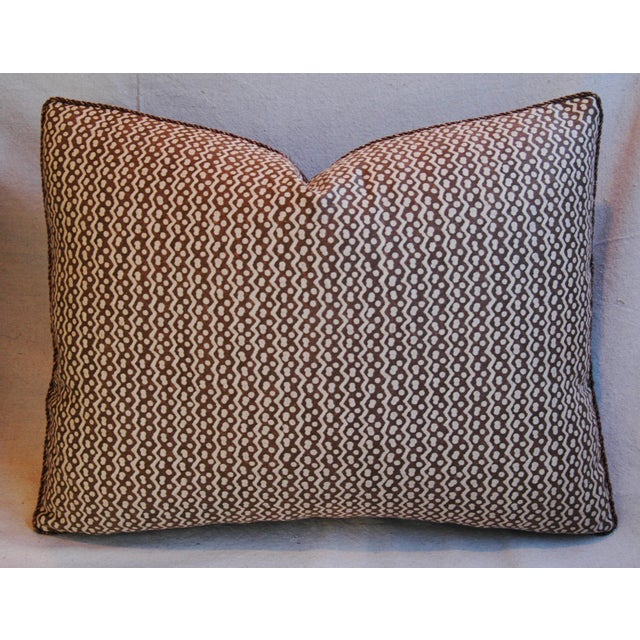 Italian Mariano Fortuny Tapa Feather & Down Pillows - A Pair - Image 5 of 10