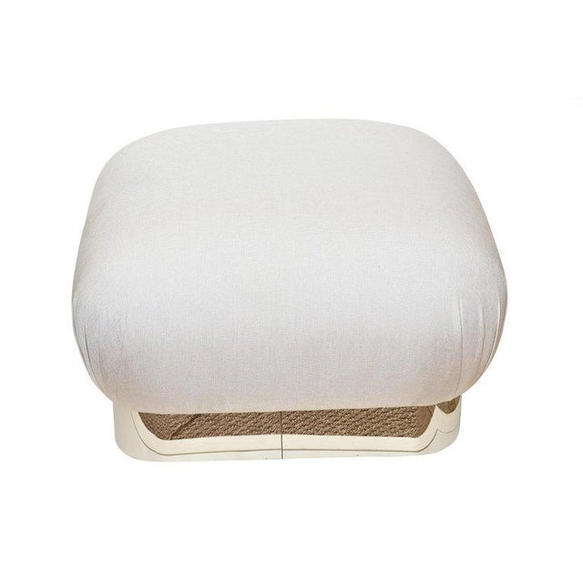Contemporary Karl Springer Souffle Ottoman For Sale - Image 3 of 10
