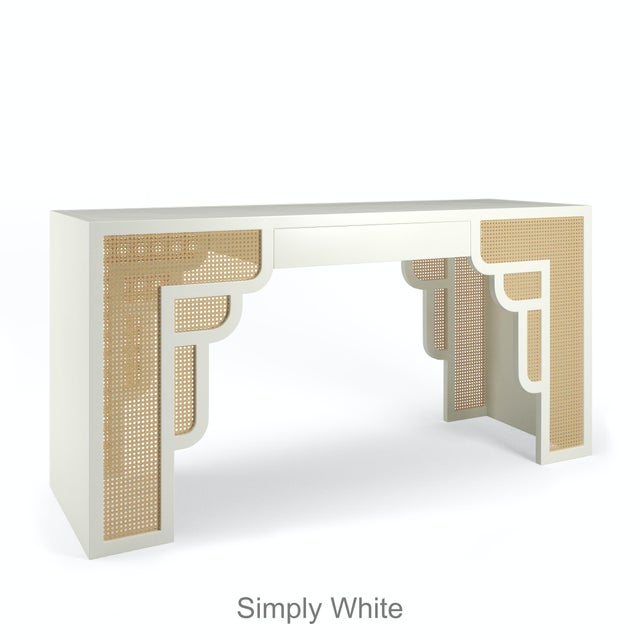 Not Yet Made - Made To Order Habanera Console Table - Simply White For Sale - Image 5 of 5