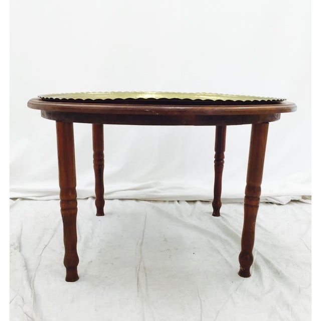 Vintage Brass Tray Top Coffee Table