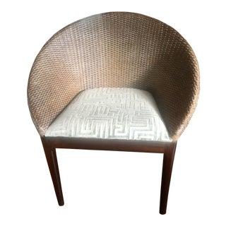 Mid Century Modern Wicker Chair For Sale