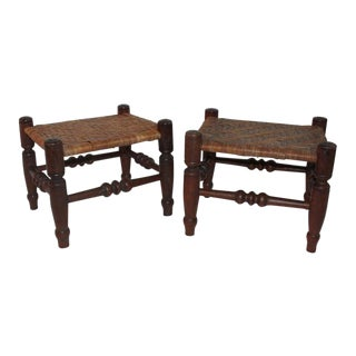 Early 19th Century Foot Stools - a Pair For Sale