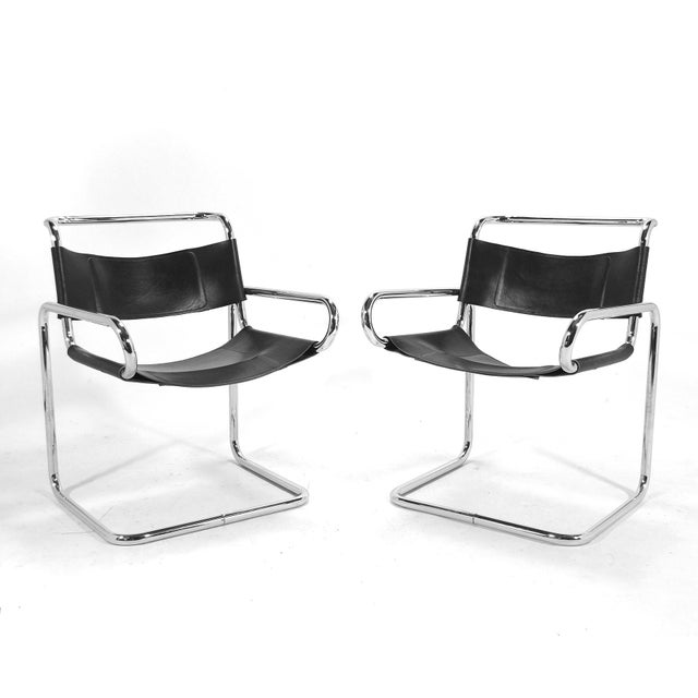 "Ralph Rye Pair of ""RYE""Chairs by Dunbar For Sale In Chicago - Image 6 of 9"