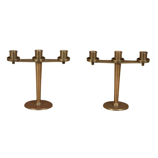 Tiffany & Co. Art Deco Bronze Candelabra - a Pair For Sale - Image 9 of 9