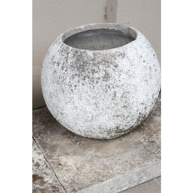 Stone Mid-Century French Cast Stone Sphere Planter Trio For Sale - Image 7 of 11