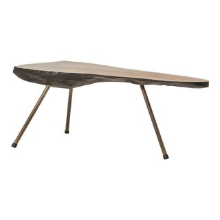 Vintage Mid Century Tree Trunk Table, Style of Carl Aubock For Sale