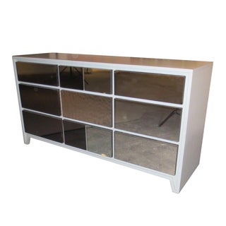 Reflective Reprise Mid Century 9 Drawer Credenza For Sale