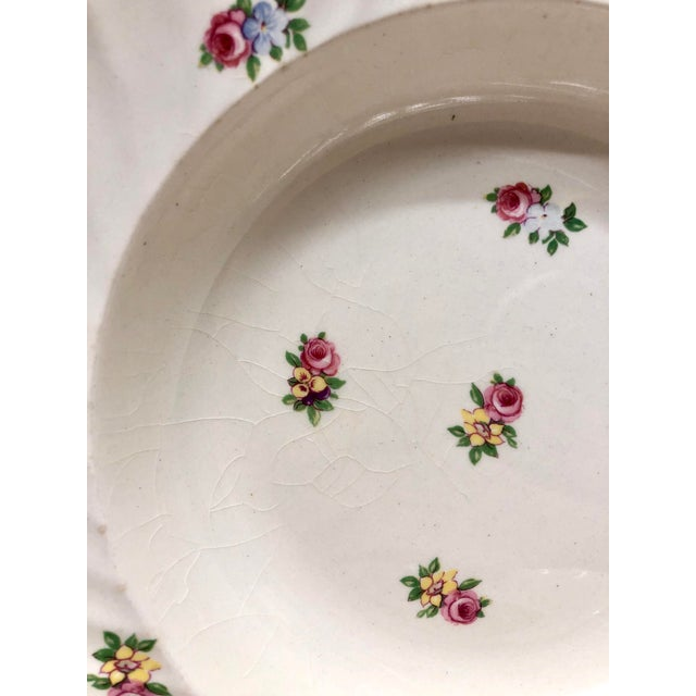 English Royal Staffordshire Soup Bowls - Set of 7 For Sale - Image 3 of 7