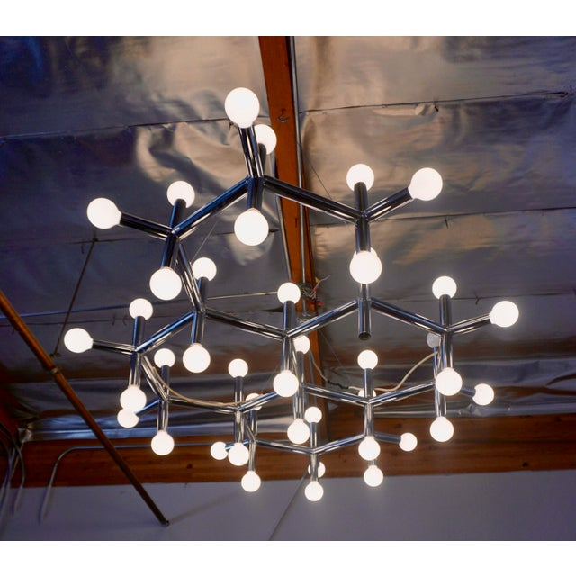 Metal 1960's Atomic Light Fixture by Robert Haussmann For Sale - Image 7 of 8