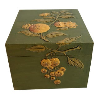 Vintage Mid Century Fitz and Floyd Decoupage Recipe Box For Sale