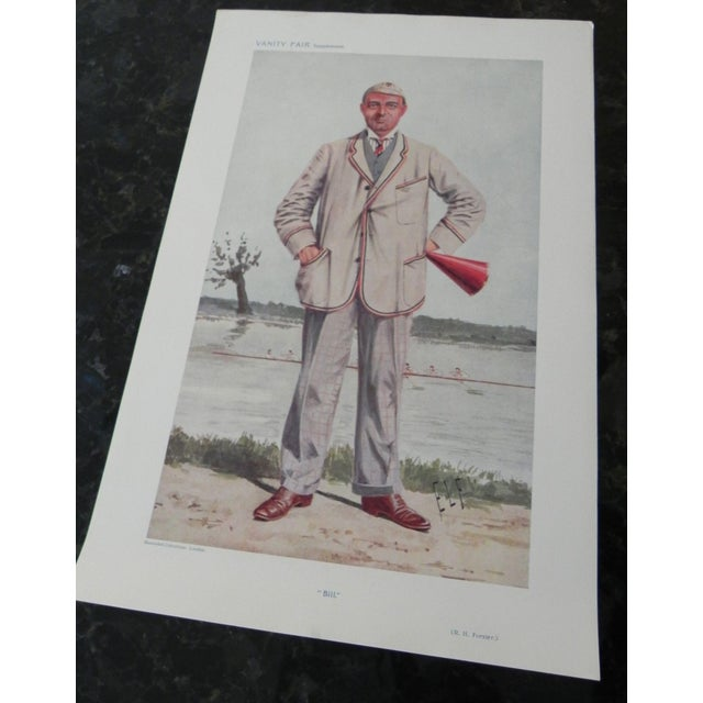 Illustration 1910 Robert Henry Forster Vanity Fair Rowing Lithograph Print For Sale - Image 3 of 4