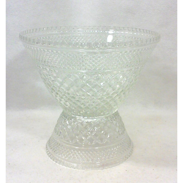 Pedestal Glass Serving Bowl and Cups - Set of 10 - Image 3 of 5