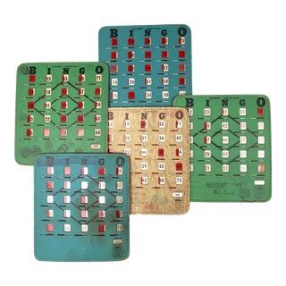 Vintage Reusable Bingo Cards - Set of 5