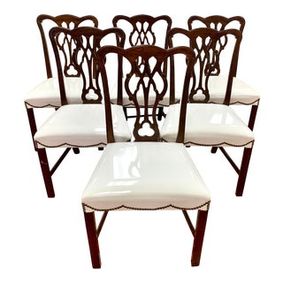 Mahogany Carved Chippendale Dining Chairs - Set of 6 For Sale
