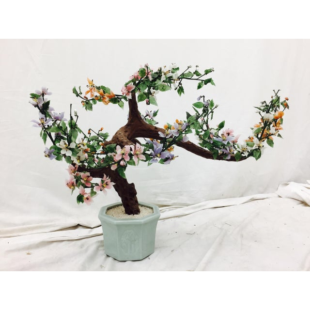 Vintage Mixed Stone Bonsai Tree Sculpture - Image 7 of 11