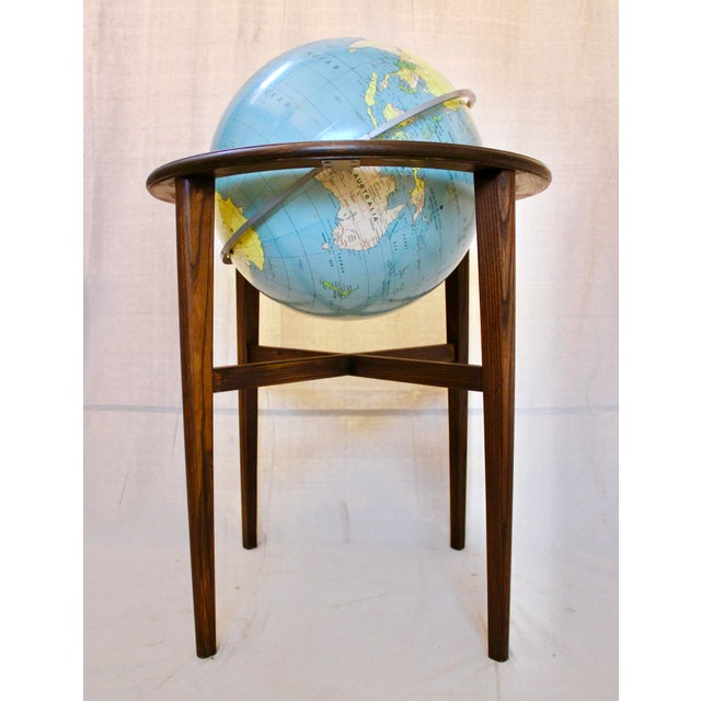 A J Nystrom & Co. 1968 Standing Library Globe For Sale - Image 12 of 12