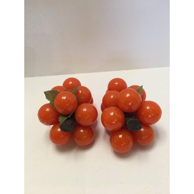 Mid-Century Orange Lucite Grapes - A Pair - Image 4 of 11