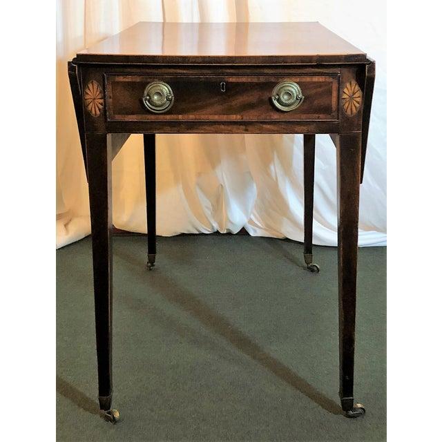 English Traditional Antique English Sheraton Pembroke Table, Circa 1790-1800. For Sale - Image 3 of 6