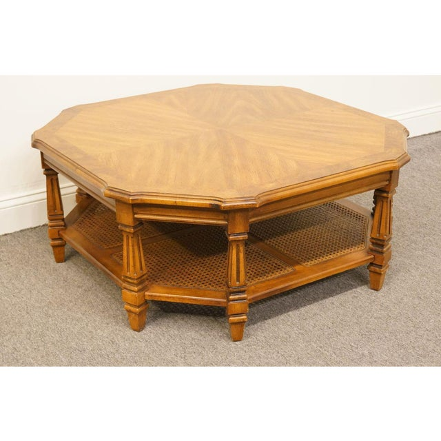 Mersman Late 20th Century Vintage Mersman Rustic Country Octagonal Coffee Table For Sale - Image 4 of 10
