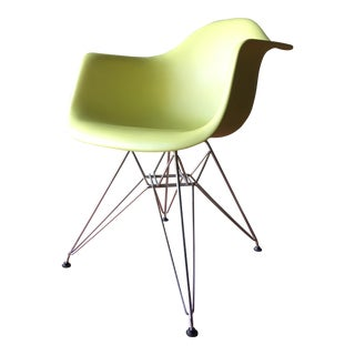 Eames Shell Armchair in Lime Green