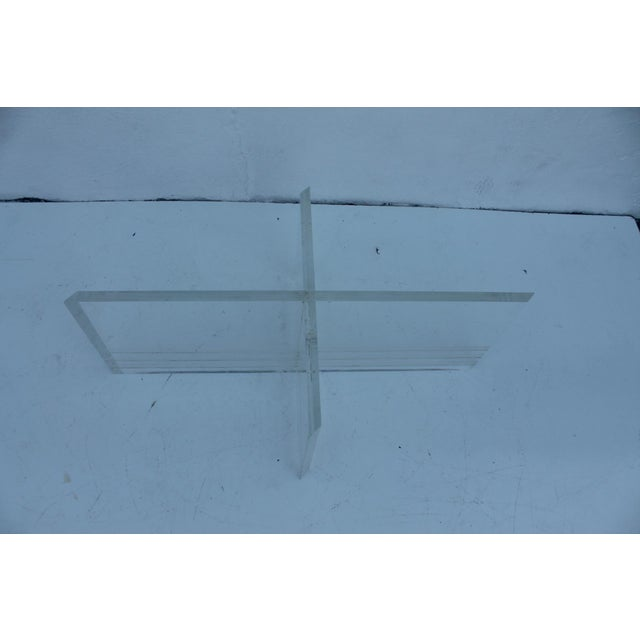 Vintage Lucite Coffee Table - Image 6 of 8