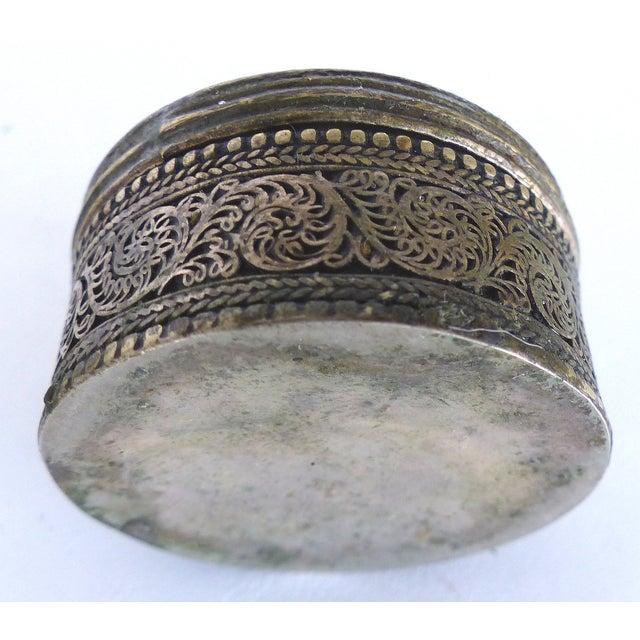 Boho Chic Metal Trinket Boxes - A Pair - Image 5 of 7