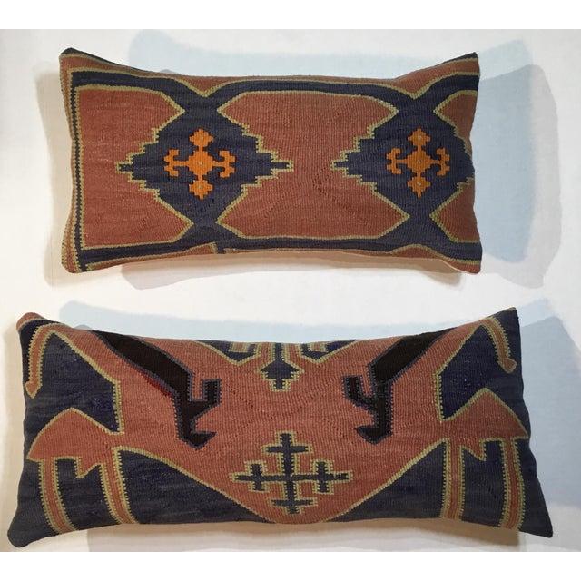 1960s Mediterranean Kazak Cotton Pillows - a Pair For Sale - Image 12 of 13