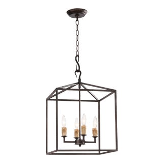 Cape Lantern Small in Black Iron For Sale