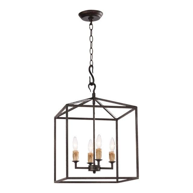 Cape Lantern Small in Black Iron For Sale