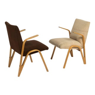 Midcentury Armchairs by Paul Bode for Deutsche Federholzgesellschaft- A Pair For Sale