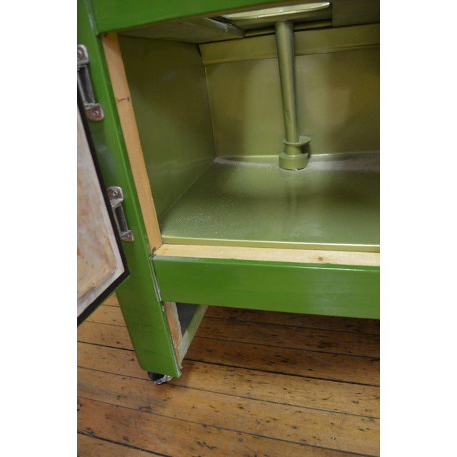 Green Ice Box Refrigerator Bar by Windsor, circa 1920s For Sale - Image 10 of 10
