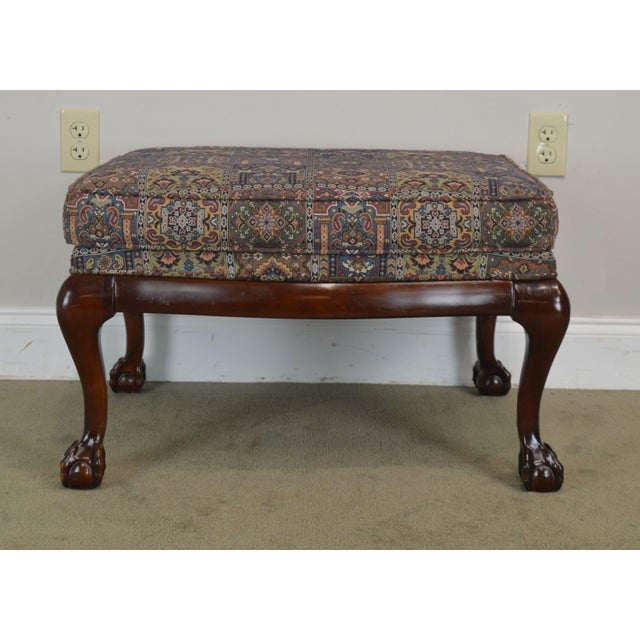 Fairington Chippendale Style Ball & Claw Foot Ottoman For Sale - Image 9 of 13