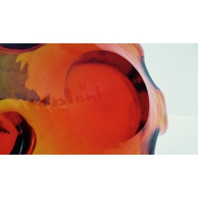 Blenko Mid-Century Modern 1960s Orange Blenko Glass Bowl For Sale - Image 4 of 11
