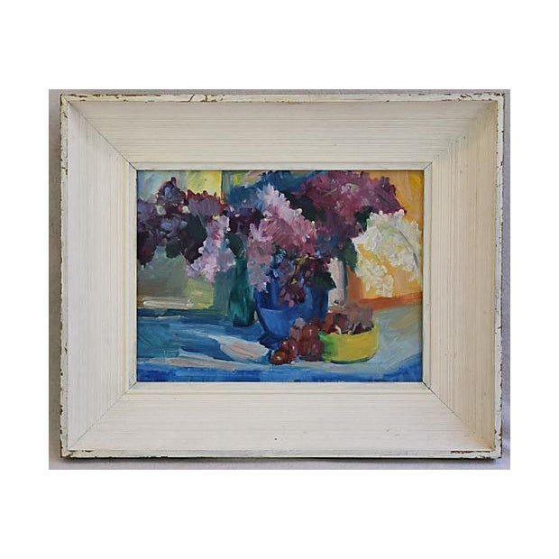 1940s Beautiful Floral Still life Oil Painting - Image 9 of 9