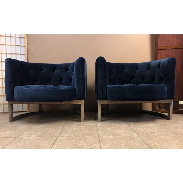 Pair Modern Cerused Lounge Chairs For Sale In New York - Image 6 of 6