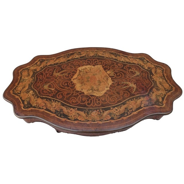 19th Century French Inlaid Coffee Table - Image 2 of 4