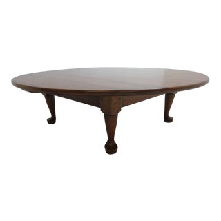 Stickley Cherry Valley Round Tradition Queen Anne Coffee Table For Sale
