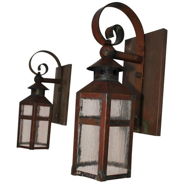 1930s 1930s Copper Outdoor Sconces - a Pair For Sale - Image 5 of 5