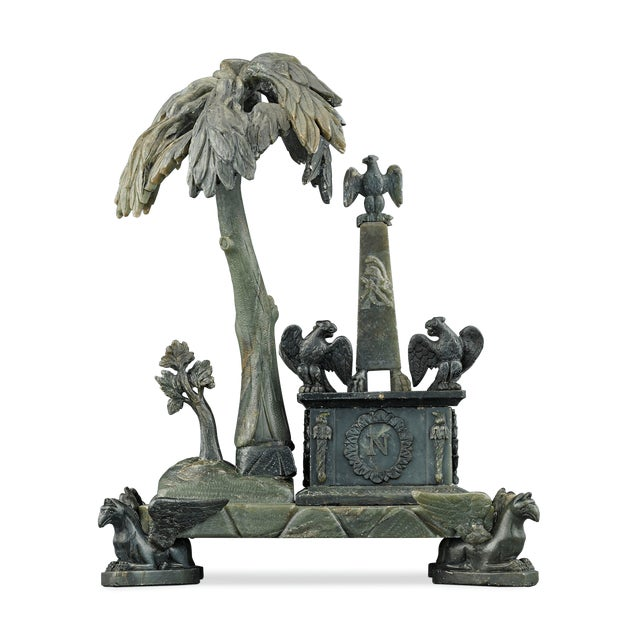 Gray Nephrite Napoleonic Tomb Sculpture For Sale - Image 8 of 8